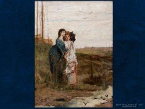 Dipinti antichi | Luigi Busi (1837 – 1884) | Tutti hanno il loro nido | Olio su tela, cm. 57 x 42