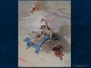 Dipinti antichi | Luigi Busi (1837 – 1884) | Studioper un soffitto | Olio su cartone, cm. 32,9 x 24,9