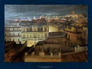 Ajani   Veduta di Roma   Olio su tela, cm. 69 x 100