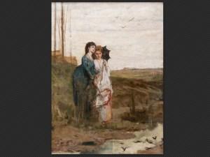 Luigi Busi | Tutti hanno il loro nido | Olio su tela, cm. 57 x 42.