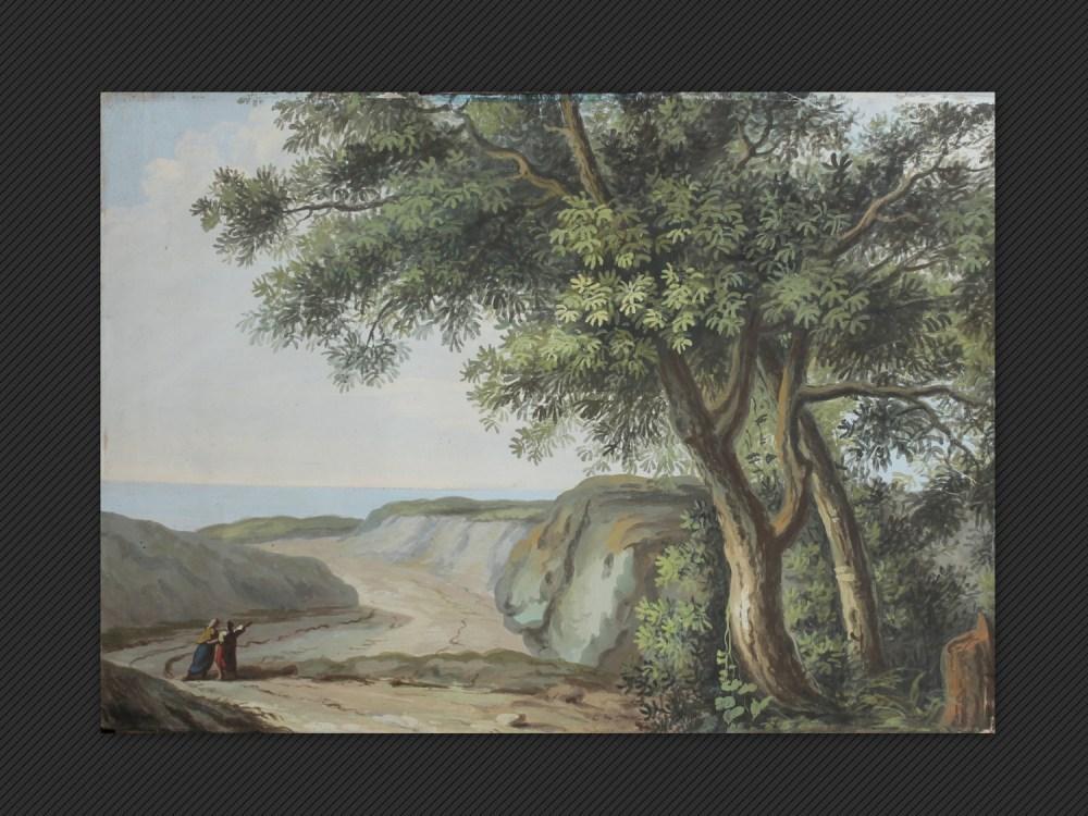 Pietro Piani | Paesaggio con figure e grande albero