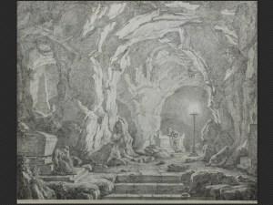 Christoph Heinrich Kniep | Grotta con figure in meditazione