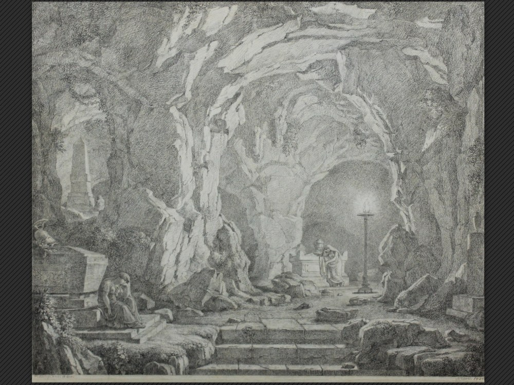 Christoph Heinrich Kniep, Grotta con figure in meditazione