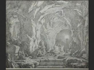 Christoph Heinrich Kniep   Grotta con figure in meditazione