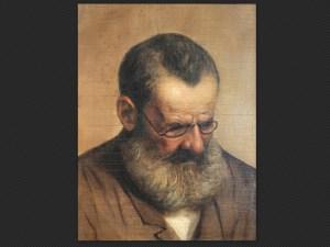 Alessandro Guardassoni, Autoritratto | Olio su tela nella sua cornice originale, cm. 45 x 35