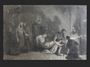 Alessandro Guardassoni | La tumulazione di Cristo | Olio su tela cm. 34 x 51
