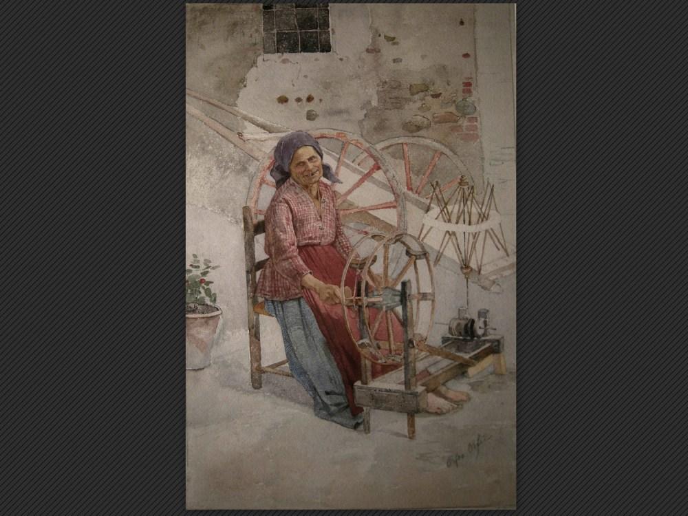 Dipinti antichi | Galleria de' Fusari | Orfeo Orfei, La filatrice