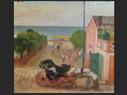Pietro Scapardini, Gabicce (1941)   Olio su cartone pressato, cm. 43 x 48