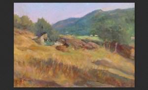 Ferruccio Giacomelli | Altura a villa d'Aiano | Olio su cartone telato, cm. 49,5 x 69,5
