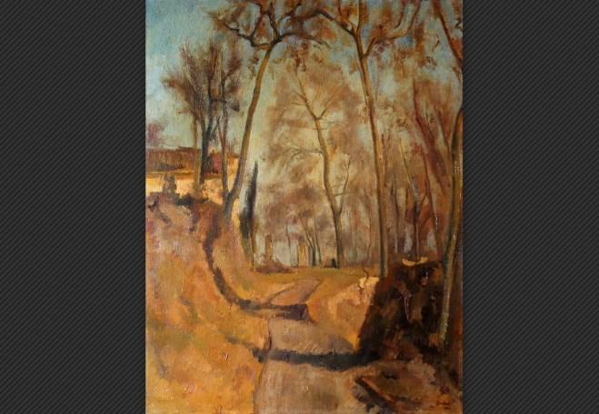 Nino Bertocchi| L'ospitale | Olio su tela, cm. 68 x 52,5