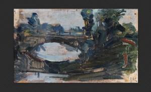 Ezechiele Acerbi - Riflessi, olio su tavola, cm. 8,5 x 14,3