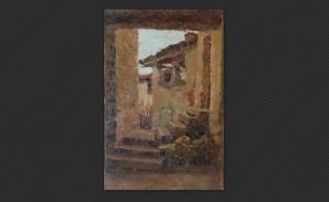 Ferruccio Giacomelli | Sormano, olio su tavola, cm. 17,5 x 11,2