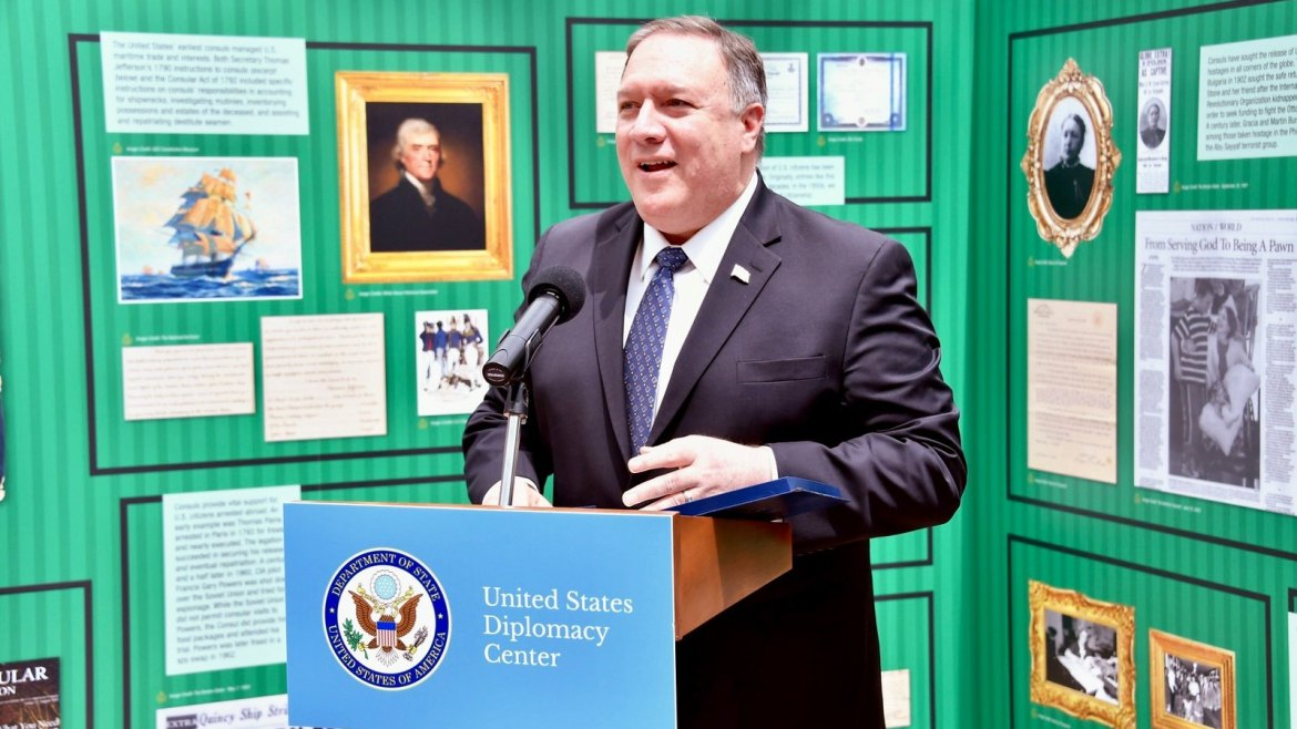 U.S. Secretary of State gives remarks at the National Museum of American Diplomacy guest exhibit on Consular Affairs.