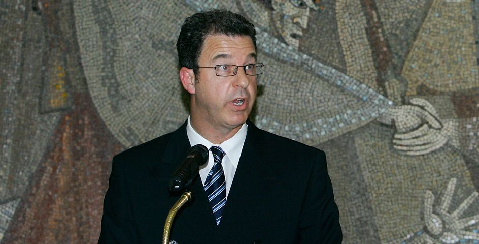 Serge Brammertz, chief UN war crimes prosecutor for the former Yugoslavia, speaks during a press conference in Belgrade, Serbia. He visited the city to review efforts to hunt down fugitive general Ratko Mladic.