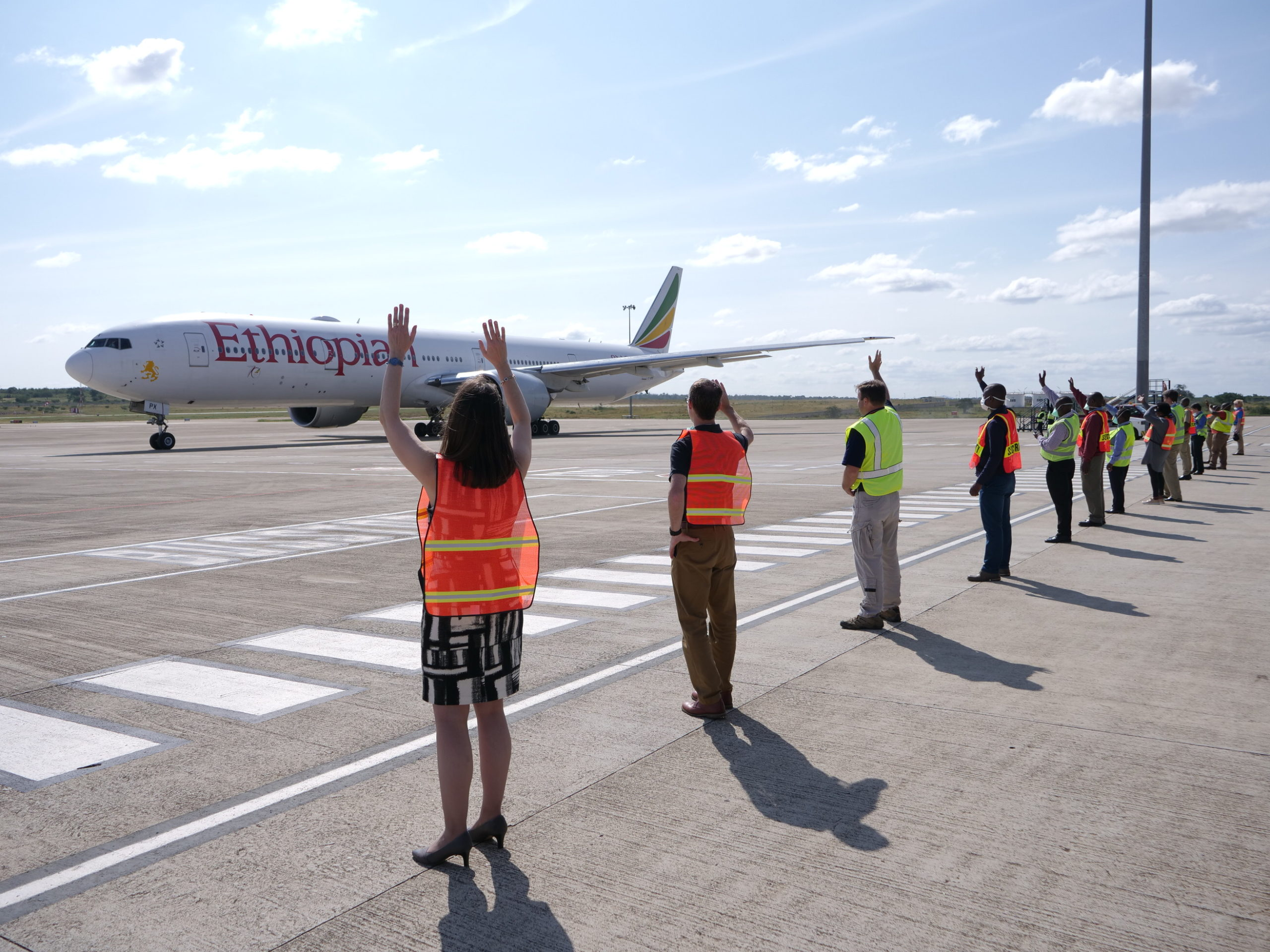 U.S. Embassy Eswatini coordinated with local officials and the U.S. Missions in South Africa, Botswana, and Lesotho to arrange a flight for more than 250 American citizens on April 10, 2020. The flight, a Boeing 777, is the largest airplane to ever take off from Eswatini's airport.