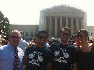 glifaa board members on the steps of the U.S. Supreme Court, minutes before the court overturned the Defence of Marriage Act in June 2013.