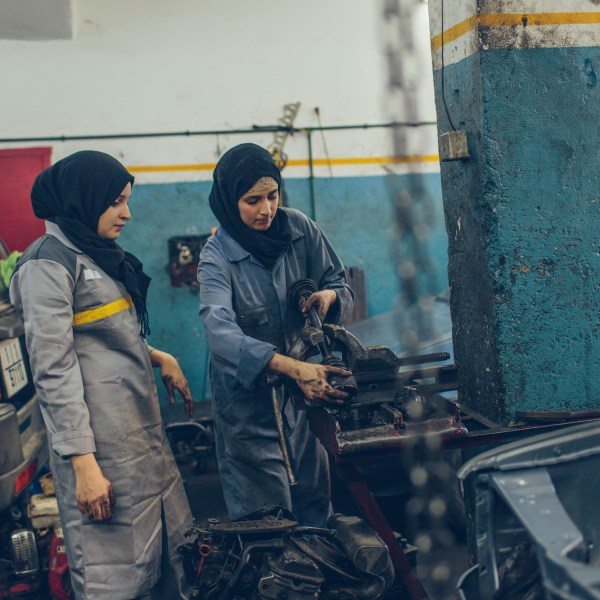 Supporting reform in morocco girls in auto mechanics