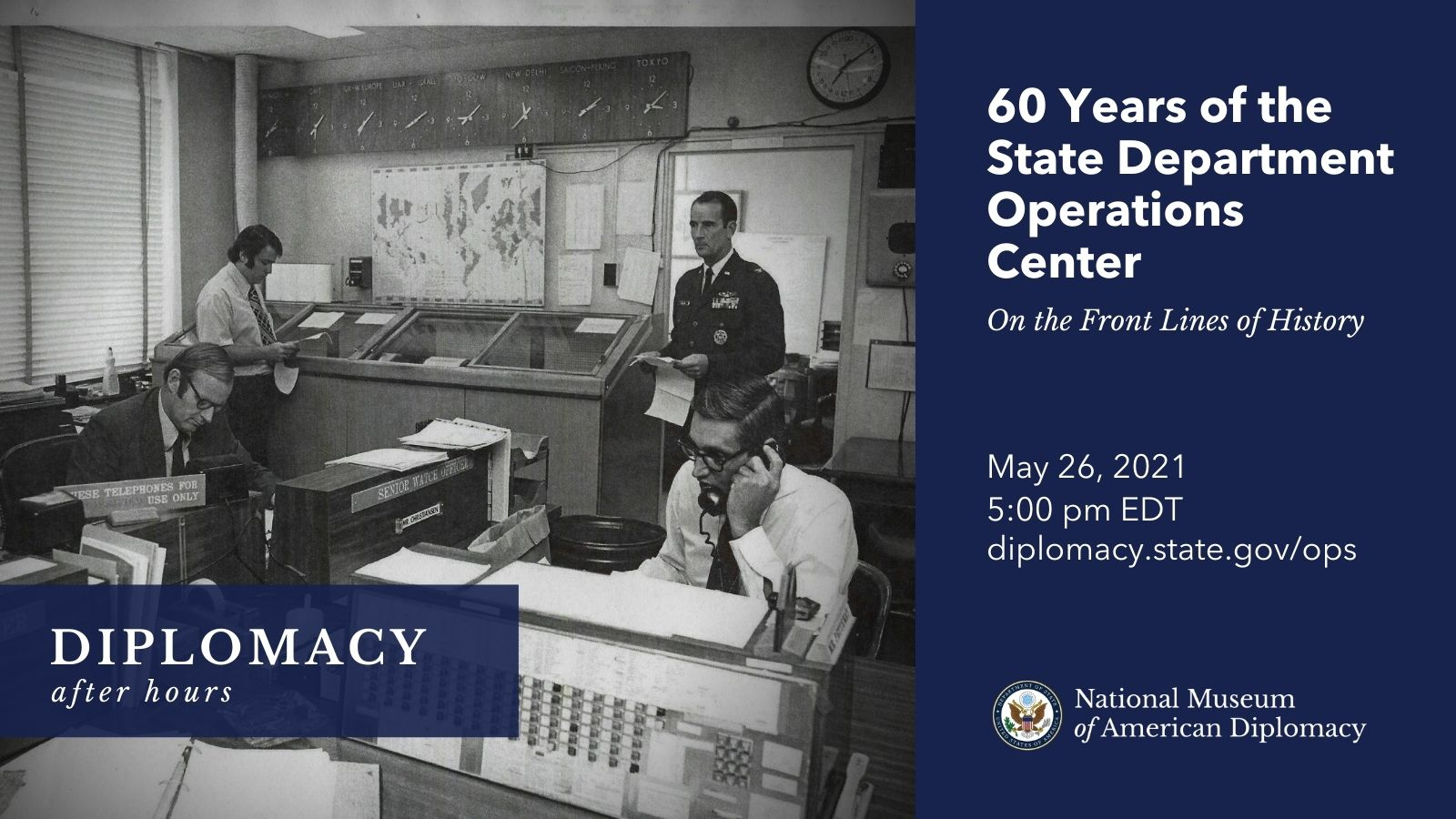 diplomacy after hours event Operations Center 60th anniversary