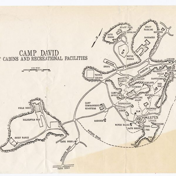 Late 1970s map of Camp David given to visitors.