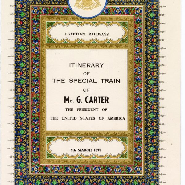 """Cover of """"Special Train of Mr. G. [sic] Carter '' from Hansell collection."""
