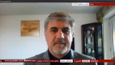 تصویر از مصاحبه با بی بی سی مورخ ۱۵ سپتامبر ۲۰۲۰ درباره ادعای امریکا مبنی بر تلاش تهران جت ترور سفیر امریکا در افریقای جنوبی.
