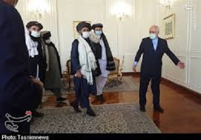 دیار ظریف با طالبان در تهران