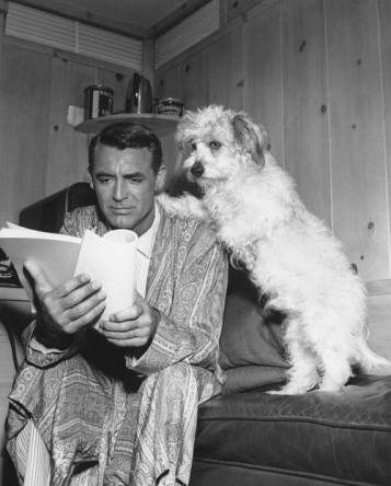Cary Grant and furry friend