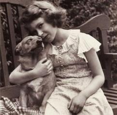 Princess Elizabeth with a beloved corgi