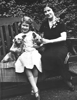 Princess Elizabeth with her mother