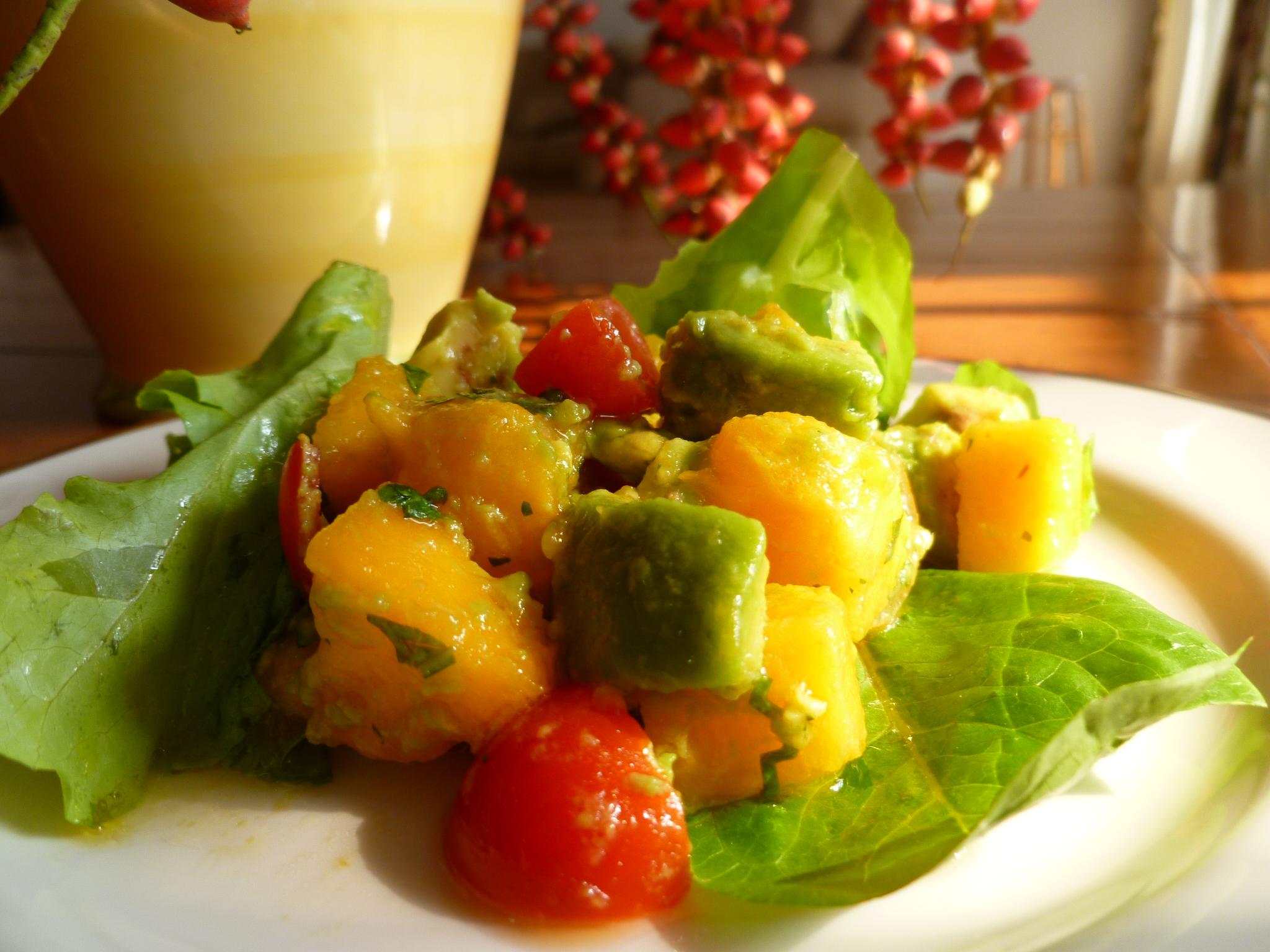Avocado And Papaya Salad With Louisiana Hot Sauce Marinade