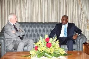 David Johnston with President Mahama