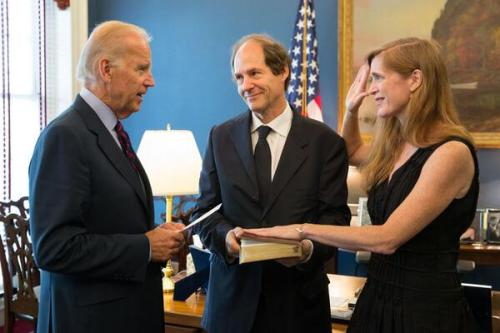 @VP Biden swears in Samantha Power as U.S. Ambassador to the U.N. on August 5, 2013