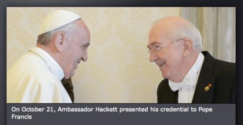 Via US Embassy/The Vatican