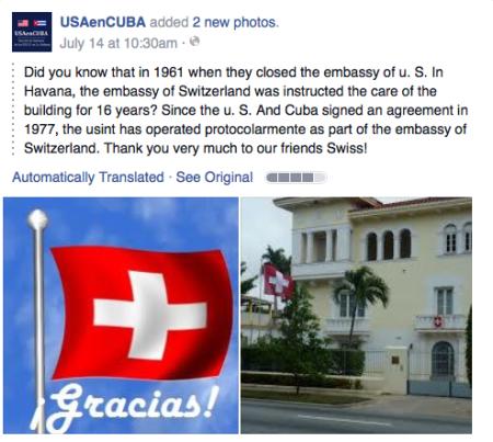 Photo via US Embassy Havana/FB