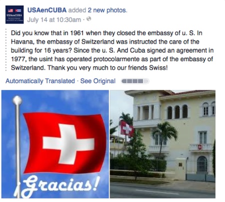 Photo via US Embassy Havana/FB