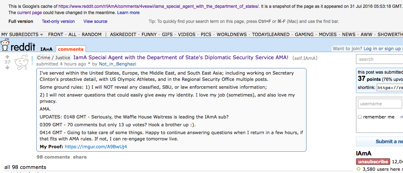 Reddit Diplopundit