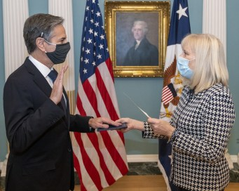 Secretary of State Antony Blinken swearing-in, January 26, 2021