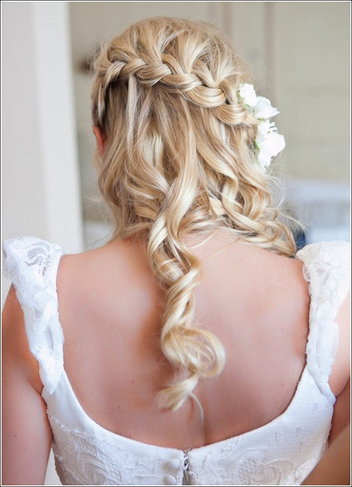 Half Up Half Down Wedding Hairstyles 9  Dipped In Lace