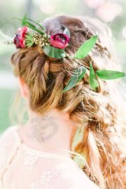 fall wedding hairstyles - dipped