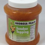 Peach Sundae Topping for Ice Cream