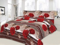 Red Flower Design King Size Bed Sheet Price in Pakistan