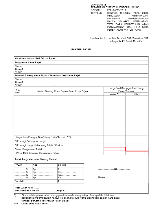 Kode Faktur Pajak 020 : faktur, pajak, Menghitung, Dalam, Valuta, Asing, Almanfaluthi