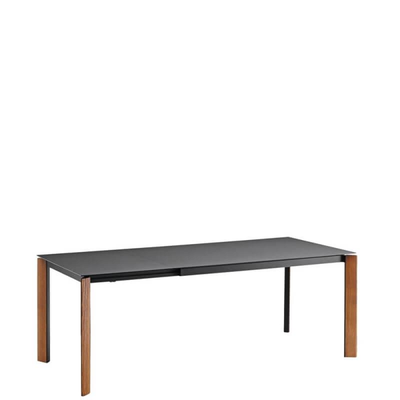 blade table extensible noyer et plateau en fenix 1m40 a 2m de midj