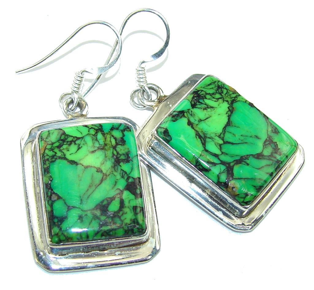 Green Island! Turquoise Sterling Silver earrings