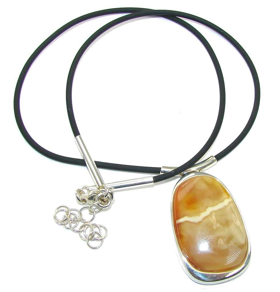 Amazing AAA Butterscotch Baltic Polish Amber Sterling Silver necklace