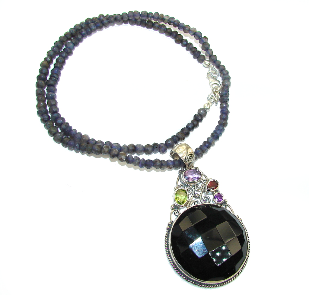 Black Whisper! Black Onyx Sterling Silver necklace