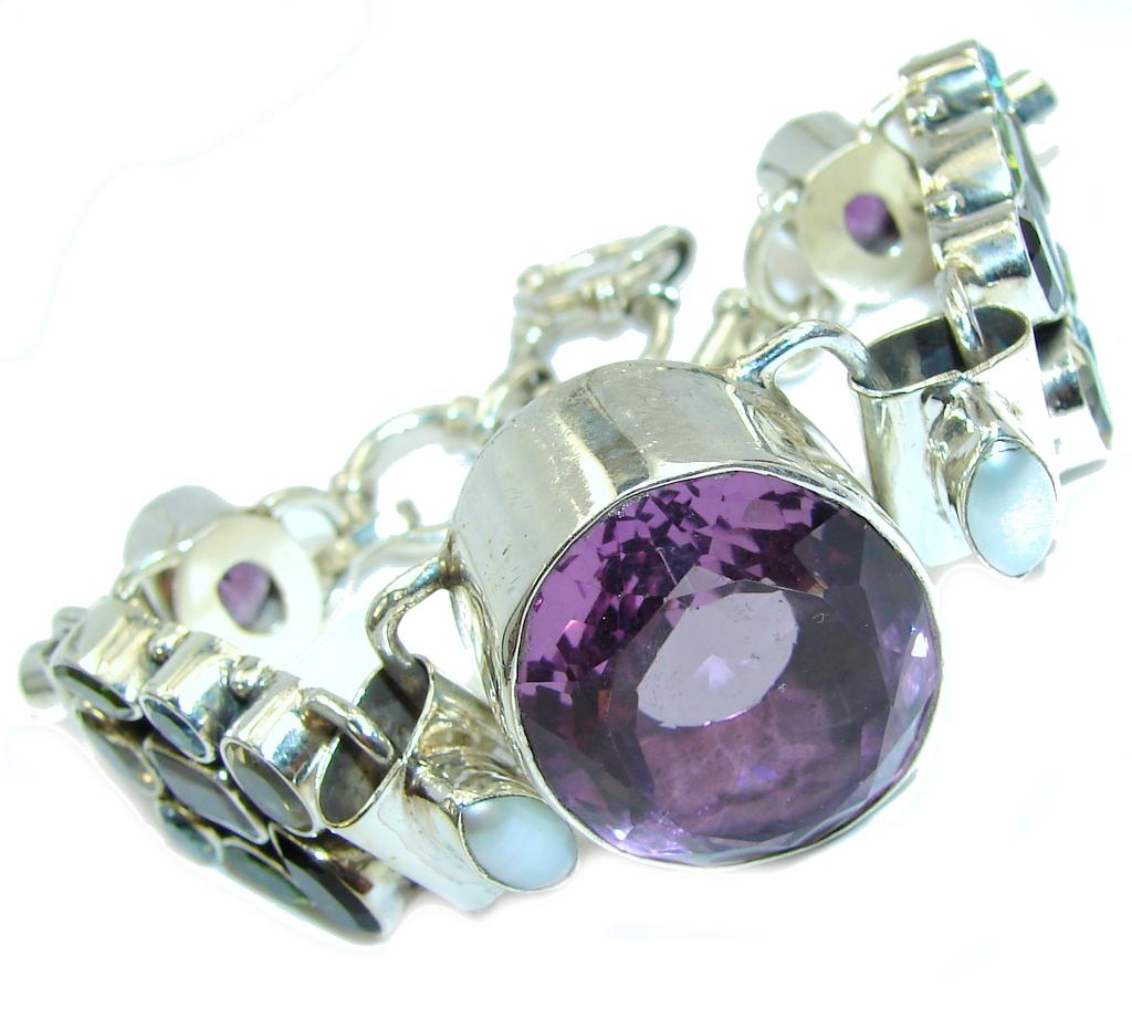 Secret Beauty Purple Amethyst Sterling Silver Bracelet
