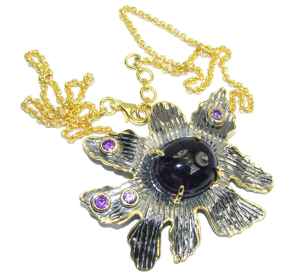 Mystic Princess Purple Amethyst Sterling Silver necklace