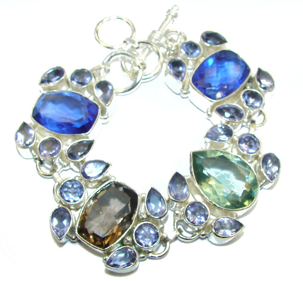 Fashion Beauty! Created Purple Amethyst Sterling Silver Bracelet