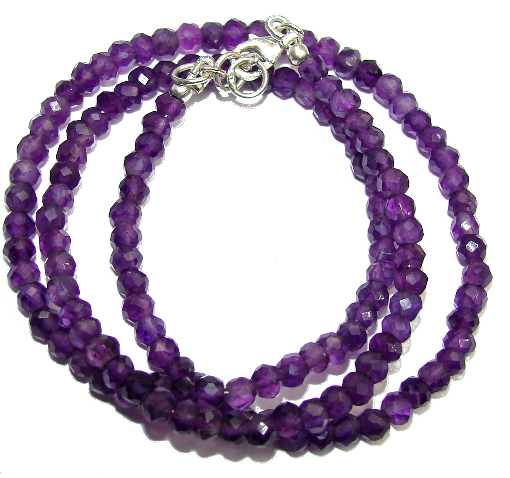 Amazing Genuine Amethyst Sterling Silver Necklace